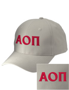 Alpha Omicron Pi Embroidered Low-Profile Cap