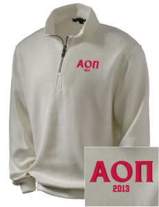 Alpha Omicron Pi Embroidered Men's 1/4-Zip Sweatshirt