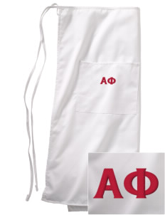 Alpha Phi Embroidered Full Bistro Bib Apron