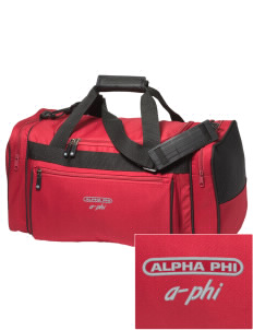 Alpha Phi Embroidered Holloway Duffel Bag