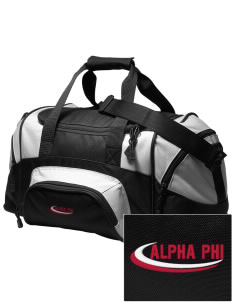 Alpha Phi Embroidered Small Colorblock Duffel