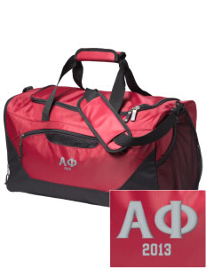 Alpha Phi Embroidered Holloway Chill Medium Duffel Bag