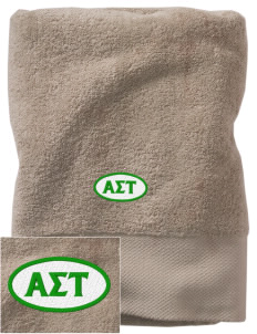 Alpha Sigma Tau Embroidered Zero Twist Resort Towel