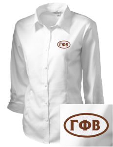 Gamma Phi Beta Embroidered Women's 3/4 Sleeve Non-Iron
