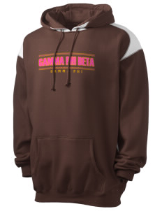 Gamma Phi Beta Men's Pullover Hooded Sweatshirt with Contrast Color