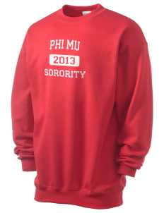Phi Mu Men's 7.8 oz Lightweight Crewneck Sweatshirt
