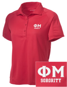 Phi Mu Embroidered Women's Polytech Mesh Insert Polo