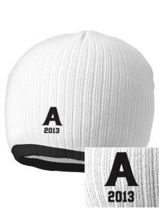 Acacia Embroidered Champion Striped Knit Beanie
