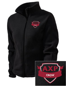 Alpha Chi Rho Embroidered Women's Fleece Full-Zip Jacket