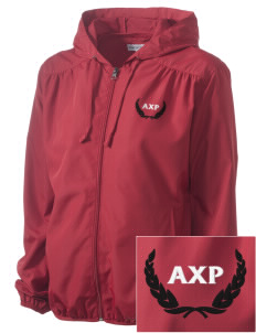 Alpha Chi Rho Embroidered Women's Hooded Essential Jacket