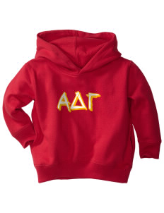 Alpha Delta Gamma  Toddler Fleece Hooded Sweatshirt with Pockets