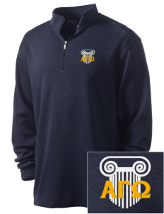Alpha Gamma Omega Embroidered Nike Men's Golf Heather Cover Up