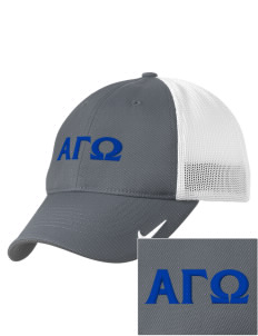 Alpha Gamma Omega Embroidered Nike Golf Mesh Back Cap