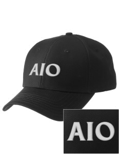 Alpha Iota Omicron  Embroidered New Era Adjustable Structured Cap