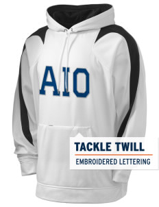 Alpha Iota Omicron Holloway Men's Sports Fleece Hooded Sweatshirt with Tackle Twill
