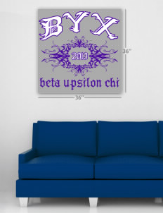 "Beta Upsilon Chi Wall Poster Decal 36"" x 36"""