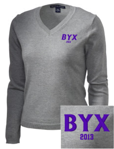 Beta Upsilon Chi Embroidered Women's V-Neck Sweater