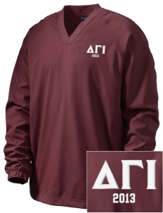 Delta Gamma Iota Embroidered Men's V-Neck Raglan Wind Shirt