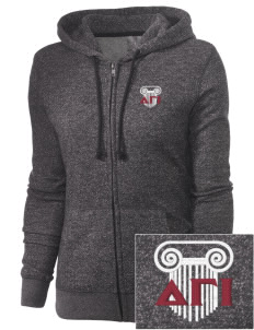 Delta Gamma Iota Embroidered Women's Marled Full-Zip Hooded Sweatshirt