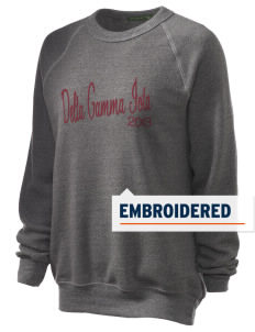 Delta Gamma Iota Embroidered Unisex Alternative Eco-Fleece Raglan Sweatshirt