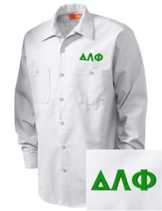 Delta Lambda Phi Embroidered Men's Industrial Work Shirt - Regular