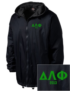Delta Lambda Phi Embroidered Dickies Men's Fleece-Lined Hooded Jacket