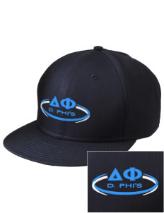 Delta Phi  Embroidered New Era Flat Bill Snapback Cap