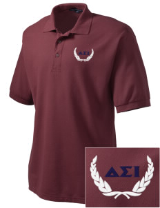 Delta Sigma Iota Embroidered Men's Silk Touch Polo