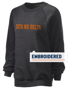 Iota Nu Delta Embroidered Unisex Alternative Eco-Fleece Raglan Sweatshirt