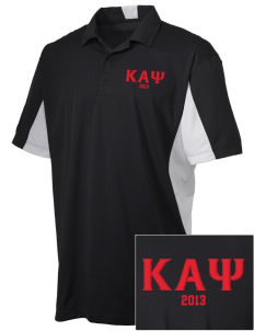 Kappa Alpha Psi Embroidered Men's Side Blocked Micro Pique Polo