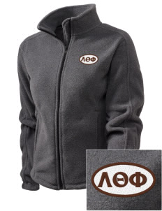 Lambda Theta Phi Embroidered Women's Fleece Full-Zip Jacket