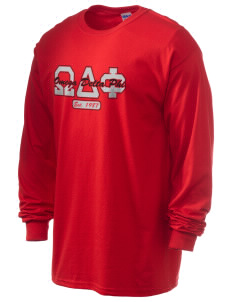 Omega Delta Phi 6.1 oz Ultra Cotton Long-Sleeve T-Shirt