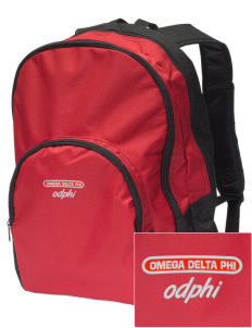 Omega Delta Phi Embroidered Value Backpack