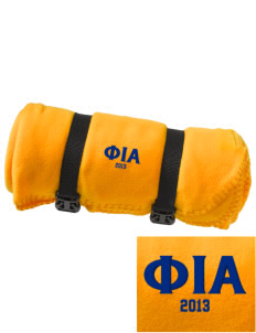 Phi Iota Alpha Embroidered Fleece Blanket with Strap