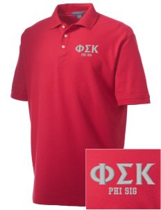 Phi Sigma Kappa Embroidered Men's Performance Plus Pique Polo