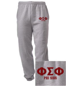 Phi Sigma Phi Embroidered Men's Sweatpants with Pockets
