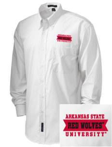 Arkansas State University Red Wolves  Embroidered Men's Easy Care, Soil Resistant Shirt