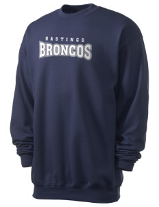 Hastings College Broncos Men's 7.8 oz Lightweight Crewneck Sweatshirt