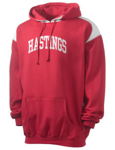 Hastings College Broncos Men's Pullover Hooded Sweatshirt with Contrast Color