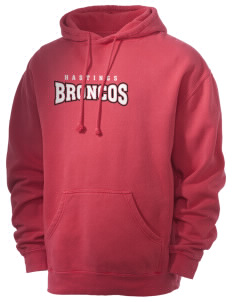 Hastings College Broncos Men's 80/20 Pigment Dyed Hooded Sweatshirt