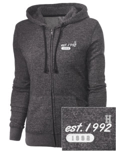 High-Tech Institute est. 1992 Embroidered Women's Marled Full-Zip Hooded Sweatshirt