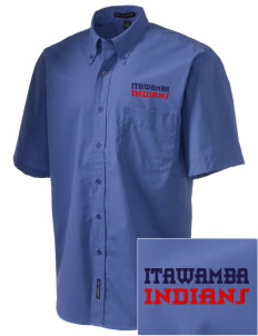 Itawamba Community College Indians  Embroidered Men's Easy-Care Shirt