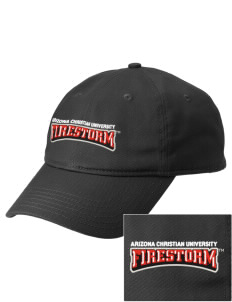 Arizona Christian University Firestorm  Embroidered New Era Adjustable Unstructured Cap