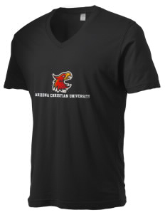 Arizona Christian University Firestorm Alternative Men's 3.7 oz Basic V-Neck T-Shirt