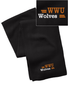 Walla Walla University Wolves  Embroidered Knitted Scarf