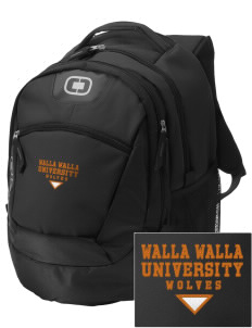 Walla Walla University Wolves Embroidered OGIO Rogue Backpack