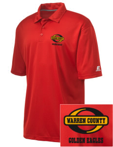 Warren County Community College Golden Eagles Embroidered Russell Coaches Core Polo Shirt