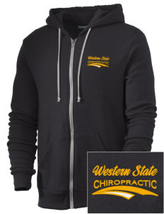 Western States Chiropractic College Chiropractic Embroidered Alternative Men's Rocky Zip Hooded Sweatshirt