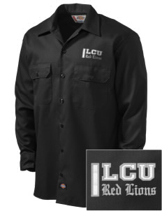 Lincoln Christian College Preachers Embroidered Dickies Men's Long-Sleeve Workshirt