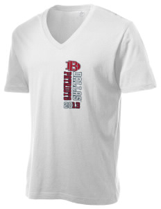 Dallas Baptist University Patriots Alternative Men's 3.7 oz Basic V-Neck T-Shirt